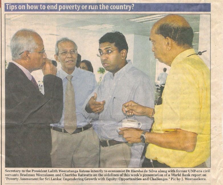 Tips on how to end poverty or how to run the country?